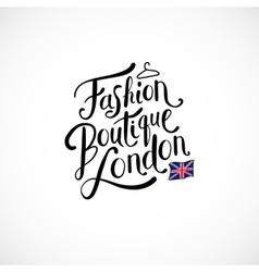 Fashion boutique london concept on white vector