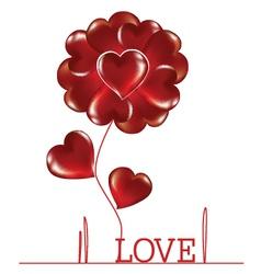 Flower woven heart vector