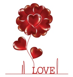 Flower woven heart vector image