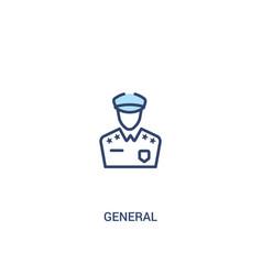 General concept 2 colored icon simple line vector