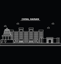Hainan silhouette skyline china - hainan vector