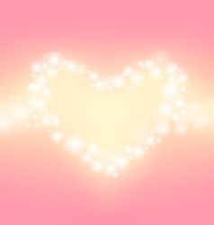 heart abstrack sparkling frame pink background vector image