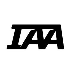 Iaa logo design inspirations letter i a a logo vector