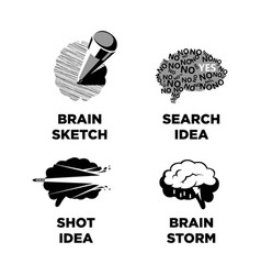 Innovative ideas idea and smart brain icons vector