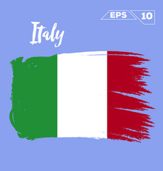 Italy flag brush strokes painted vector