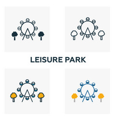 leisure park outline icon thin style design from vector image