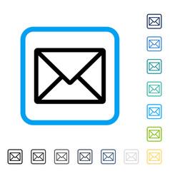 Letter framed icon vector
