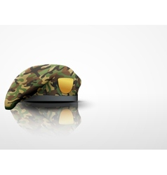 Light Background Military Camo Beret Special vector image