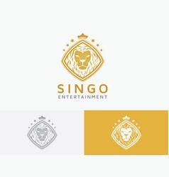 lion entertainment logo design vector image