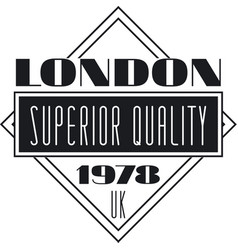 London superior quality 1978 uk black denim vector
