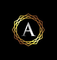 luxury letter a logo template vector image