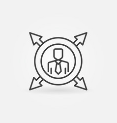 man in circle with arrows line icon vector image