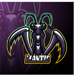 Mantis esport logo mascot design vector