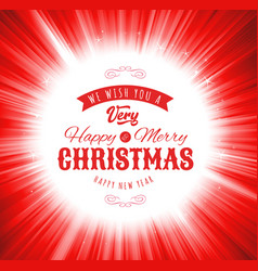 merry christmas wishes background vector image