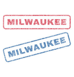 Milwaukee textile stamps vector