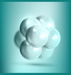 Model molecular structure of nanotechnology vector