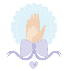 Mom hand vector image