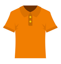 Orange men polo shirt icon isolated vector