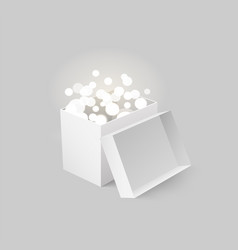 Package with light and beams carton box vector