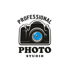 photography and photo studio symbol emblem design vector image