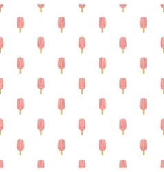 Pink ice cream pattern cartoon style vector