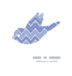 Purple drops chevron bird silhouette vector