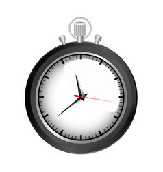 realistic graphic of black stopwatch vector image