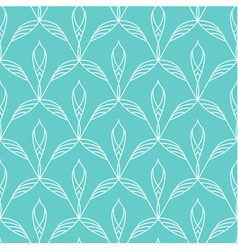 Repeating floral linear seamless pattern vector