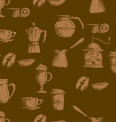 Seamless coffee background vector image