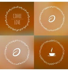 Set of coffee framework of the vines with vector image