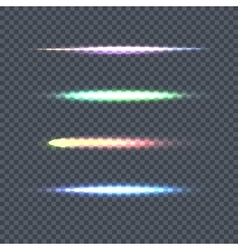Set of Light Line on Transparent Background vector image