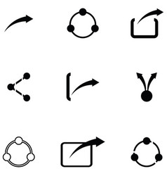 share icon set vector image