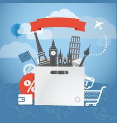 Shopping time seasonal euro discount tour vector
