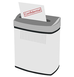 Shredder and text confidential vector
