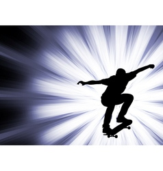 skateboarder - abstract background vector image
