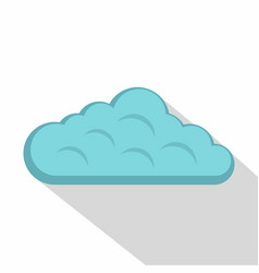 Sky cloud icon flat style vector