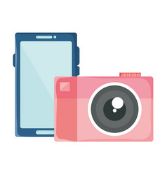 smartphone with camera photographic devices vector image