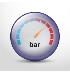 Speedometer web flat icon vector