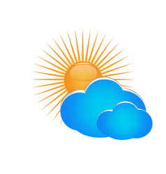 sun and cloud environment icon vector image