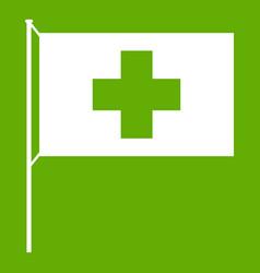 switzerland flag icon green vector image