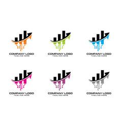 tech chart logo vector image