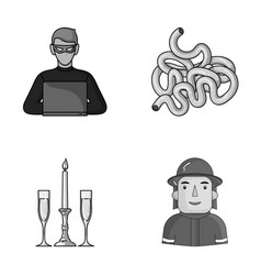 Technology restaurant and other monochrome icon vector
