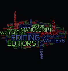 The need for editorial services text background vector