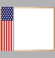 Us flag symbolism border vector
