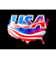 USA American flag on black background vector