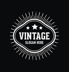 vintage element logo vector image