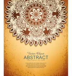 Vintage hand-drawn abstract flowers pattern vector