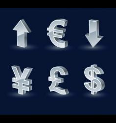 vista monetary arrows vector image