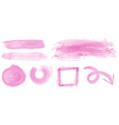 Watercolor strokes in pink color vector
