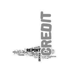 What is credit denial and what can you do about vector